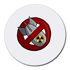 No Nuclear Weapons Round Mousepads by Valentinaart