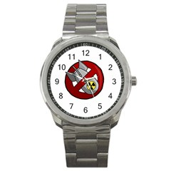 No Nuclear Weapons Sport Metal Watch