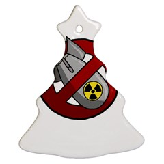 No Nuclear Weapons Ornament (christmas Tree)