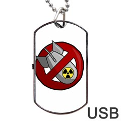 No Nuclear Weapons Dog Tag Usb Flash (one Side)