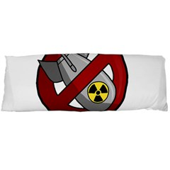 No Nuclear Weapons Body Pillow Case (dakimakura) by Valentinaart