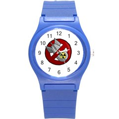 No Nuclear Weapons Round Plastic Sport Watch (s) by Valentinaart