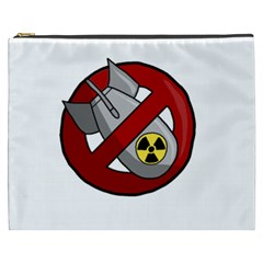 No Nuclear Weapons Cosmetic Bag (xxxl)  by Valentinaart