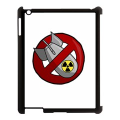 No Nuclear Weapons Apple Ipad 3/4 Case (black) by Valentinaart