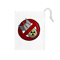 No Nuclear Weapons Drawstring Pouches (medium)