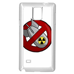 No Nuclear Weapons Samsung Galaxy Note 4 Case (white) by Valentinaart