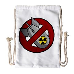 No Nuclear Weapons Drawstring Bag (large) by Valentinaart