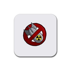 No Nuclear Weapons Rubber Coaster (square)