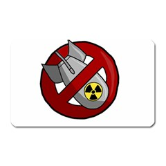 No Nuclear Weapons Magnet (rectangular) by Valentinaart