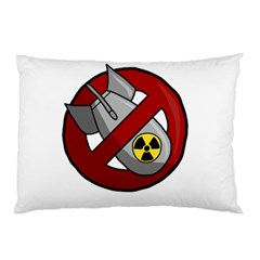 No Nuclear Weapons Pillow Case (two Sides) by Valentinaart