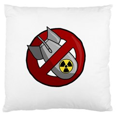 No Nuclear Weapons Standard Flano Cushion Case (two Sides) by Valentinaart