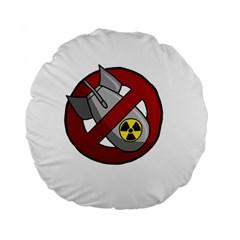 No Nuclear Weapons Standard 15  Premium Flano Round Cushions by Valentinaart