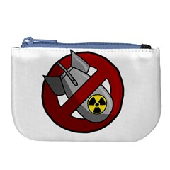 No Nuclear Weapons Large Coin Purse by Valentinaart