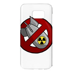 No Nuclear Weapons Samsung Galaxy S7 Edge Hardshell Case by Valentinaart