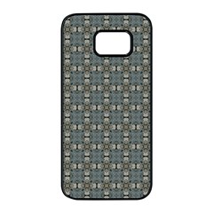 Earth Tiles Samsung Galaxy S7 Edge Black Seamless Case by KirstenStar