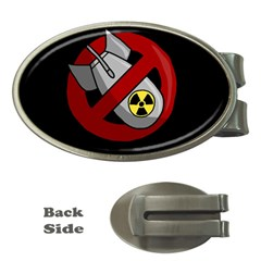 No Nuclear Weapons Money Clips (oval)