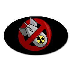 No Nuclear Weapons Oval Magnet