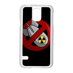 No Nuclear Weapons Samsung Galaxy S5 Case (white) by Valentinaart