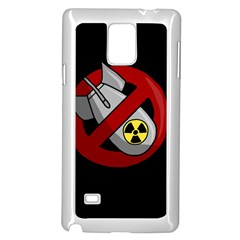 No Nuclear Weapons Samsung Galaxy Note 4 Case (white)