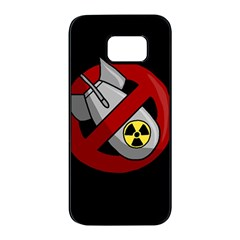 No Nuclear Weapons Samsung Galaxy S7 Edge Black Seamless Case by Valentinaart