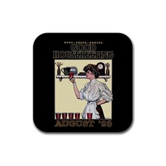 Good Housekeeping Rubber Coaster (square)  by Valentinaart