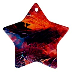 Abstract Acryl Art Star Ornament (two Sides) by tarastyle