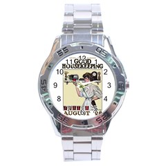 Good Housekeeping Stainless Steel Analogue Watch by Valentinaart