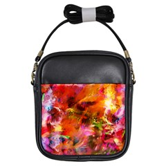Abstract Acryl Art Girls Sling Bags by tarastyle
