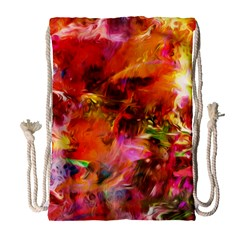 Abstract Acryl Art Drawstring Bag (large) by tarastyle