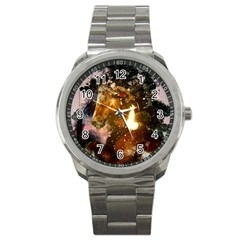 Wonderful Horse In Watercolors Sport Metal Watch by FantasyWorld7