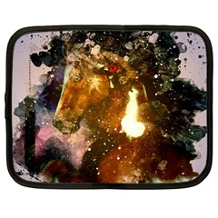 Wonderful Horse In Watercolors Netbook Case (large) by FantasyWorld7