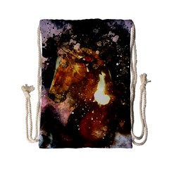Wonderful Horse In Watercolors Drawstring Bag (small) by FantasyWorld7