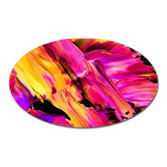 Abstract Acryl Art Oval Magnet by tarastyle