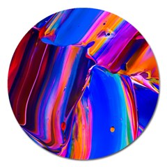 Abstract Acryl Art Magnet 5  (round) by tarastyle