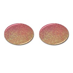 Rose Gold Sparkly Glitter Texture Pattern Cufflinks (oval) by paulaoliveiradesign