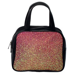 Rose Gold Sparkly Glitter Texture Pattern Classic Handbags (one Side) by paulaoliveiradesign
