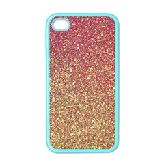 Rose Gold Sparkly Glitter Texture Pattern Apple Iphone 4 Case (color) by paulaoliveiradesign