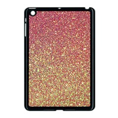 Rose Gold Sparkly Glitter Texture Pattern Apple Ipad Mini Case (black) by paulaoliveiradesign