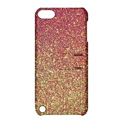 Rose Gold Sparkly Glitter Texture Pattern Apple Ipod Touch 5 Hardshell Case With Stand by paulaoliveiradesign