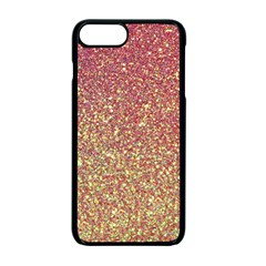 Rose Gold Sparkly Glitter Texture Pattern Apple Iphone 7 Plus Seamless Case (black) by paulaoliveiradesign