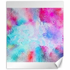 Pink And Purple Galaxy Watercolor Background  Canvas 8  X 10  by paulaoliveiradesign