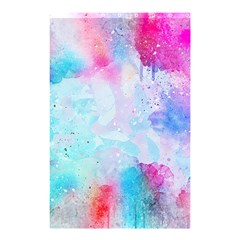 Pink And Purple Galaxy Watercolor Background  Shower Curtain 48  X 72  (small)  by paulaoliveiradesign