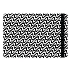 Black And White Waves Illusion Pattern Apple Ipad Pro 10 5   Flip Case