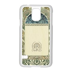 Art Nouveau Samsung Galaxy S5 Case (white) by 8fugoso