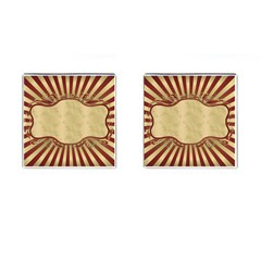 Art Deco Red Cufflinks (square) by 8fugoso