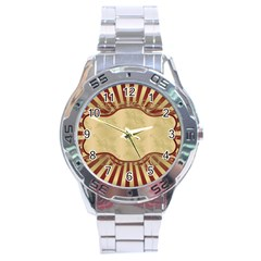 Art Deco Red Stainless Steel Analogue Watch by 8fugoso