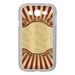 Art Deco Red Samsung Galaxy Grand Duos I9082 Case (white) by 8fugoso