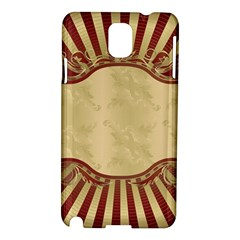 Art Deco Red Samsung Galaxy Note 3 N9005 Hardshell Case by 8fugoso
