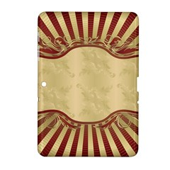 Art Deco Red Samsung Galaxy Tab 2 (10 1 ) P5100 Hardshell Case  by 8fugoso