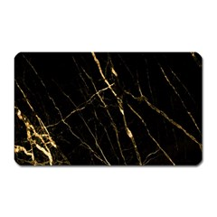 Black Marble Magnet (rectangular) by 8fugoso